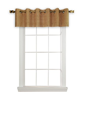 """Versailles Home Fashions BPU147212-9 Bamboo Wood Valance with Grommets, 72"""" x 12"""", Teak"""