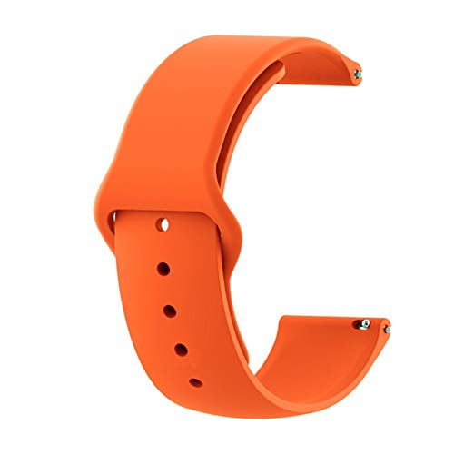18mm 20 mm 22 mm Strap de silicona para Samsung Galaxy Watch 3 Band 42mm 46mm Active 2 Sport Wamkband para HW GT 2 2E 1028 (Color : Orange, Size : 20mm)