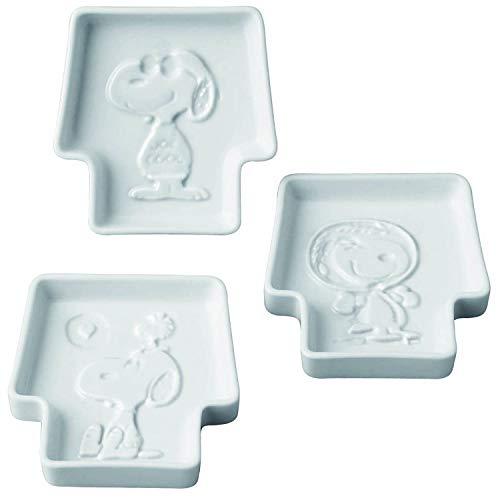 「 PEANUTS(ピーナッツ) 」 スヌーピー ディッププレート (醤油皿) 3枚セット SN660-135