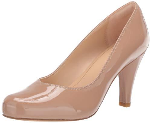 Clarks Zapatos de tacón Dalia Rose para mujer, beige (Piel Charol ),...