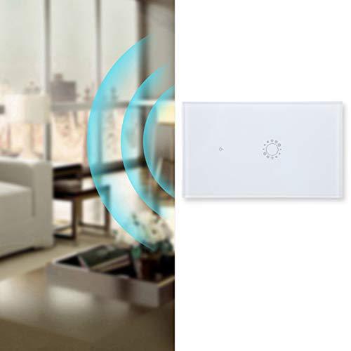 Interruptor inteligente, interruptor de control remoto WIFI exquisito 10A Interruptor inteligente WIFI Interruptor inteligente inalámbrico para el hogar