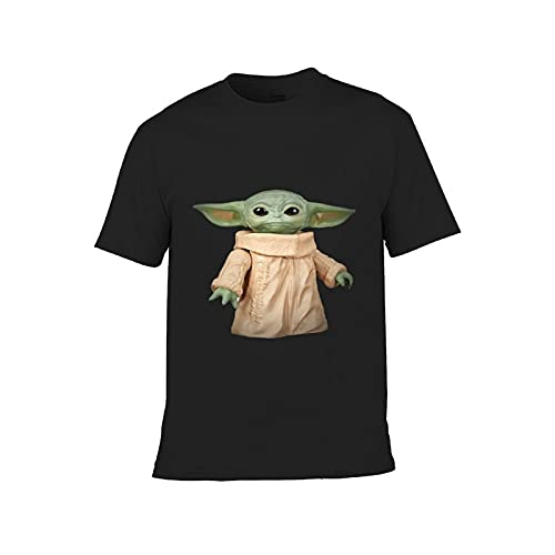 Eamibay B-aby Yoda - Camiseta de manga corta de algodón para niños y niñas