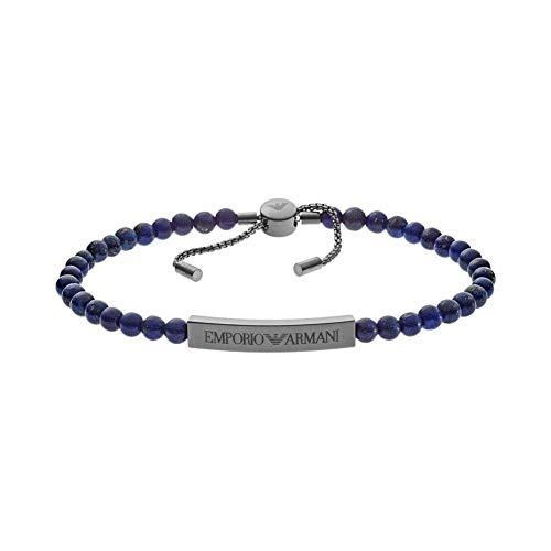 Emporio Armani męska bransoletka ze stali nierdzewnej lapis lazuli EGS2505060