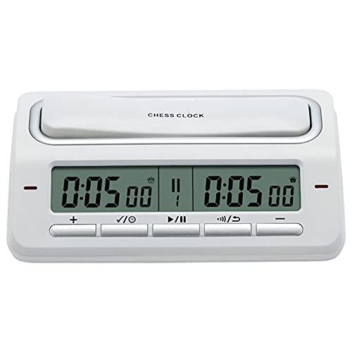 LHYCM Reloj De Ajedrez Digital, Reloj De Ajedrez De Torneo con Indicador De Estado, Temporizador De Ajedrez Profesional con Puerto De Entrada De Energía para Juego De Mesa