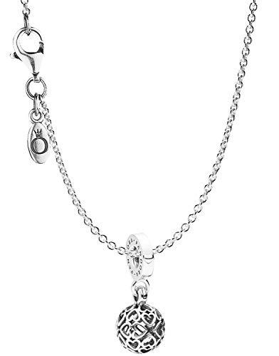 Pandora Collar con colgante de corazón armonioso, elegante collar para mujer, hermoso set de regalo para mujeres de moda, 08859