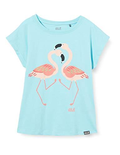 Jack Wolfskin Mädchen Flamingo T Girls Luftiges Kinder T-Shirt, Gulf Stream, 128