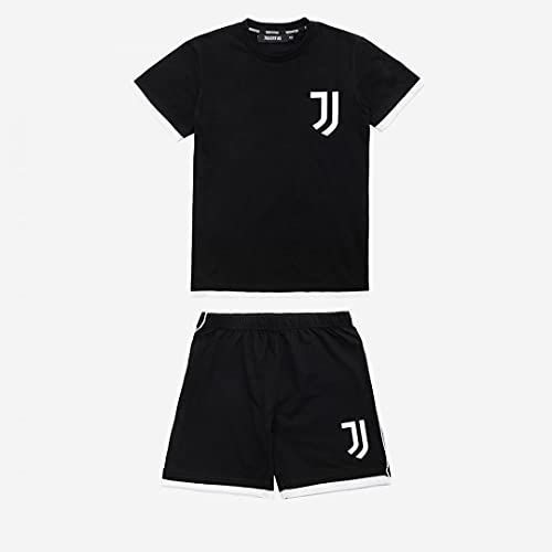 JUVE Juventus Pigiama Bambino-Ragazzo Primavera Estate 2021-100% Originale - 100% Prodotto Ufficiale - da 4 a 14 Anni - Nero -Scegli la Taglia (Taglia 12 Anni)