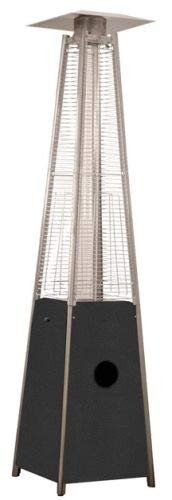 For Sale! HLDS01-CGTCB Commercial Hammered Silver Glass Tube Patio Heater