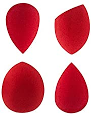 PAC Mini Sponge Set (Water Drop, Olive) (Red) (4 Pc)