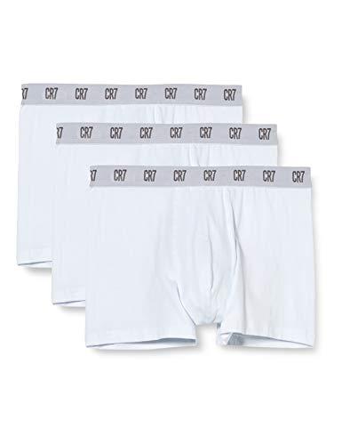 CR7 Cristiano Ronaldo 3 Pack Basic Trunk, Boxer Uomo, Nero (Black 900), Small