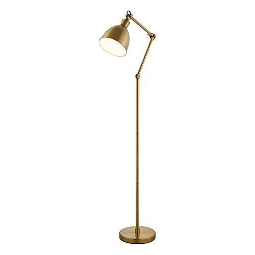 Lámparas de pie para salón Lujo LED Lámpara de la sala de estar dormitorio Estudio Planta de lectura lámpara de luz 1 interruptor de pie Lámpara de pie portátil, latón de la vendimia en Finalizar Lámp