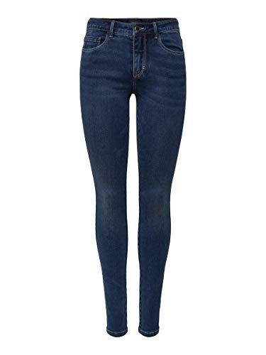 Only Jea Bb Bj13964, Jeans skinny Donna, Blu (Dark Blue Denim Dark Blue Denim), S /L30