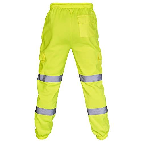 QinMM Chaqueta y Pantalones y Chaleco Bicolor de Alta Visibilidad con Bandas...