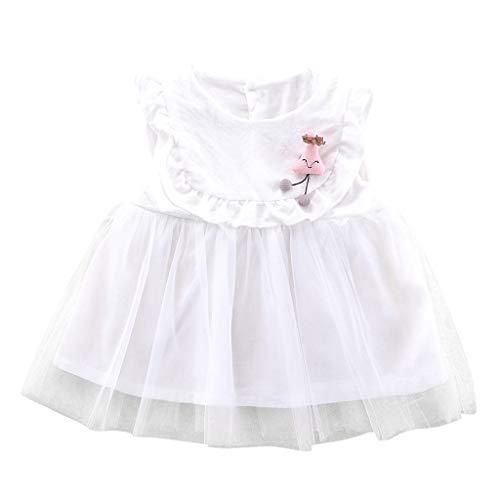 Mädchen Kleid Prinzessin Ärmellos Blumen Hochzeits Festzug Kleid Blumenmädchen Kleider feste Tüll Puppe Schön Kleid Rüschen Prinzessin Outfits Kleidung