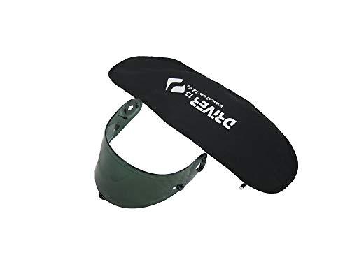 Driver13 ® Visiertasche Helmvisier für Motorradhelm Tasche in schwarz