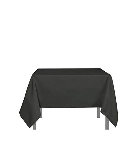 Soleil d'ocre 814233 ALIX Nappe anti-tâches carrée Polyester Anthracite 180 x 180 cm, Gris