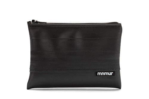 MNMUR - Geldbörse aus recyceltem Fahrradschlauch mit schwarzem Reißverschluss. Größe: 13 x 9 cm
