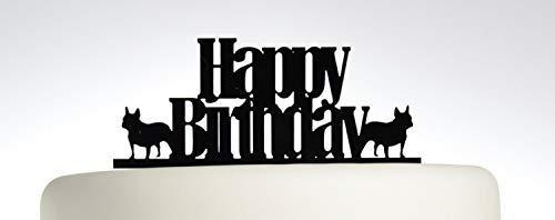 Montrwie Geburtstagstorte - Französische Bulldogge - Acryl Tortenaufsatz - Happy Birthday