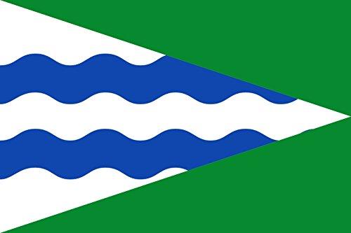 magFlags Bandera Large Municipio de Valverde de los Arroyos Castilla-La Mancha | Bandera Paisaje | 1.35m² | 90x150cm