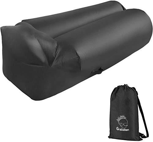 BUSUANZI Aufblasbare Liege, wasserdichte Anti-Leck-Entwurfs-Luft-Sofas Hängematte, leichte und tragbare aufblasbare Couch