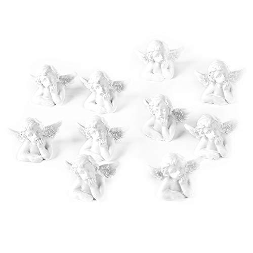 Logbuch-Verlag 10 kleine weiße Engel Schutzengel 2,5 cm Miniaturen Miniengel Mini nachdenklich Figuren als Gastgeschenk Hochzeit give-Away Geschenk
