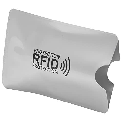 Haudang Lot de 10 pochettes en aluminium anti-démagnétisation - Protection RFID - Pochette pour carte de crédit NFC - Anti-vol
