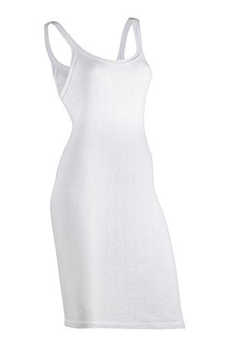 Indera Women's 100-Percentage Cotton 1x1 Rib Rib-Knit Slip (3-Pack), White, Large