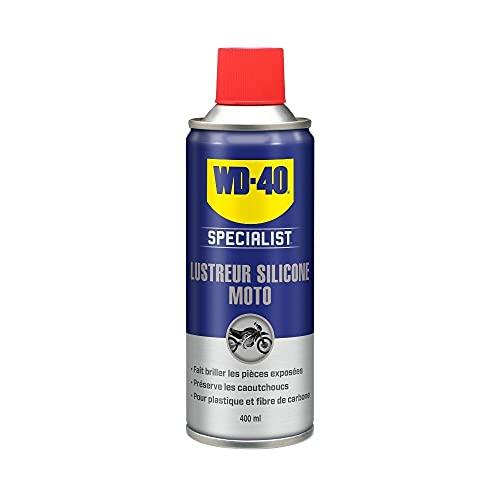 WD-40 Specialist Moto • Lustreur Silicone • Aérosol • Superbe brillance • Empêche le caoutchouc de craqueler et vieillir • Parfum fruité, souvent assimilé à l'odeur \
