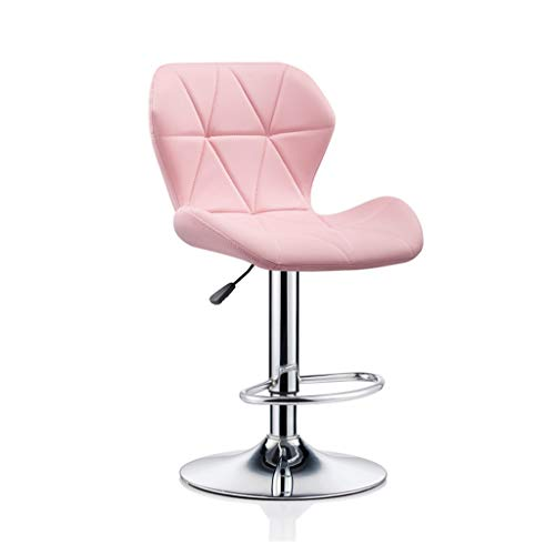 CHY Counter Height Bar Stools Set Of 4, Metal Bar Stools Adjustable,For Kitchen Computer Office Counter Chairs (Color : Pink, Size : Bar stools set of 4)