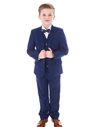 V.C. Festlicher Jungen Anzug 5-teilig blau Kommunionsanzug (146)