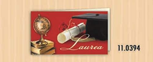 20 PZ Bigliettini bigliettino bomboniera rosso LAUREA con tocco mappamon