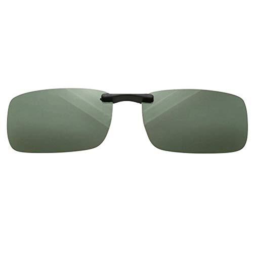 Abaodam 1 unid gafas de sol de miopía ultraligeras polarizadas clip de conductor gafas polarizadas gafas de sol clip para hombre mujer (verde claro)