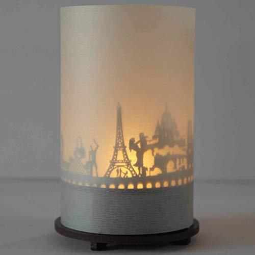 13gramm Paris -Skyline Windlicht Schattenspiel Premium Geschenk-Box Souvenir, inkl. Kerzenhalter, Kerze, Projektionsschirm und Teelicht