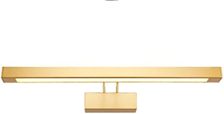 LQ Weies Licht führte Spiegel-Licht-Badezimmer-wasserdichter Spiegel-Kabinett beleuchtet einfache Retro- Verfassungs-Lichter Golden (gre   42.5cm 9W)