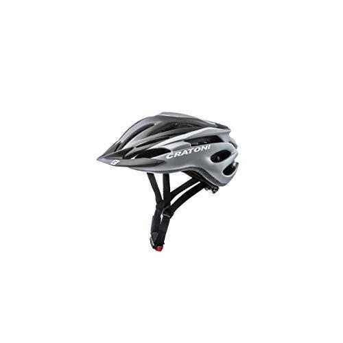 Cratoni Pacer Fahrradhelm, Black/White Matt, S-M