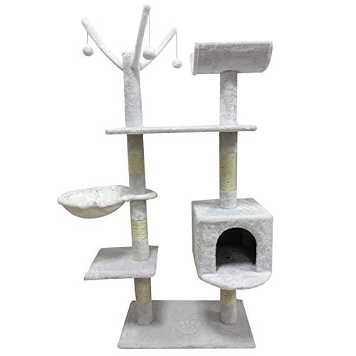 Cómodo árbol para gatos, mascotas, rascador para gatos, postes de escalar, de sisal, juguetes para escalar, muebles para mascotas