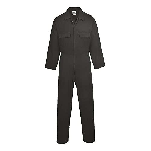 Portwest S998 - Euro algodón boilersuit, color Negro, talla XL