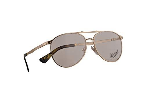 Persol 2453-V Brille 57-14-145 Gold Demonstrations Gläsern 1076 PO 2453V PO2453V PO2453-V