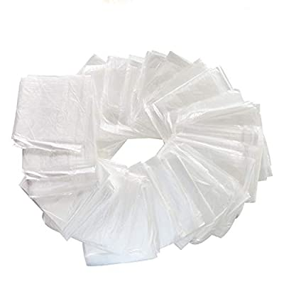 KUYT 50 - Pieces Disposable Plastic Body Wrap Film - Single Fold - Sauna Blanket Liners - 83 (L) × 43 (W) Inches with Side Openings - Infrared Sauna Blanket Accessories(50/Pcs)