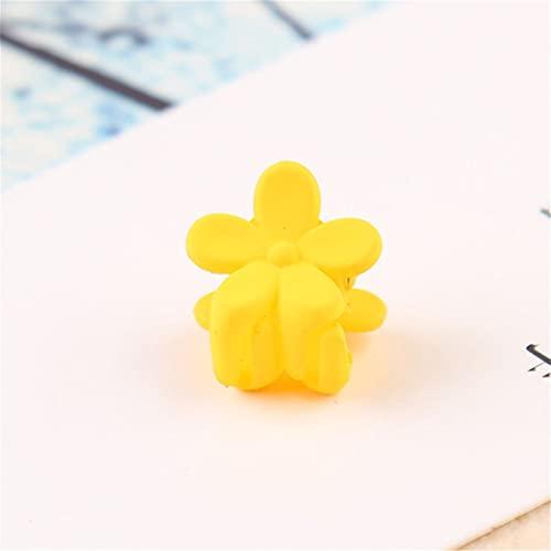 Haarnadel 10 stücke Baby mädchen kleine haarklaue Nette süßigkeiten Farbe Blume Haar Kiefer Clip Kinder haarnadel Haarschmuck großhandel Dauerhaft (Color : Yellow)
