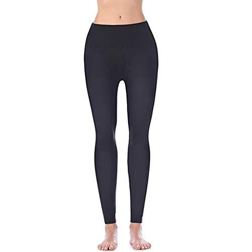 Leggings de Sport Femme YUYOUG Pantalon de Yoga de Fitness Taille Haute et serré pour Femmes Pants de Yoga à Poche cachée Nue