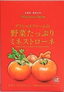 野菜たっぷりミネストローネ 180g×32箱 デリシャスファーム デリシャストマトの濃厚なうまみとたっぷりの野菜がごろごろ