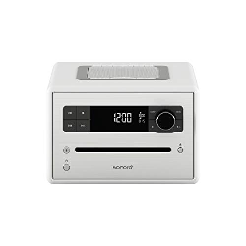 Sonoro CD 2 Radio-wekker (FM/DAB/DAB+, CD-speler, AUX-in, Bluetooth, meditatie) wit - Design digitale radio