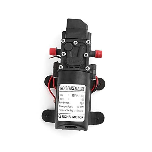 HCHL Bomba De Agua, Bomba de Agua de Micro diafragma de Alta presión de 12V 72W, Interruptor automático Tipo Inteligente, Herramientas De JardineríA (Voltage : Smart Type)
