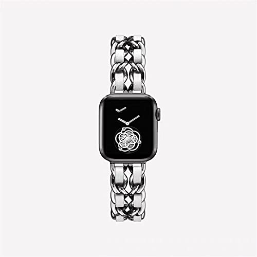 TRSX Reloj Reloj de Correa 6 5 4 3 Banda de Acero Inoxidable 38mm 42mm Banda de Pulsera (Band Color : Silver White, Band Width : 38mm or 40mm)