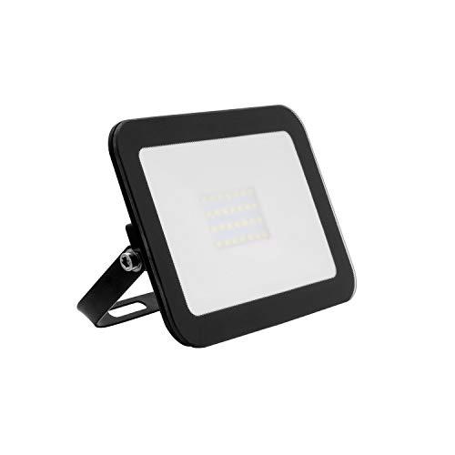 LEDKIA LIGHTING Foco Proyector LED 20W 120lm/W Slim Cristal Negro Blanco Frío 6000K - 6500K