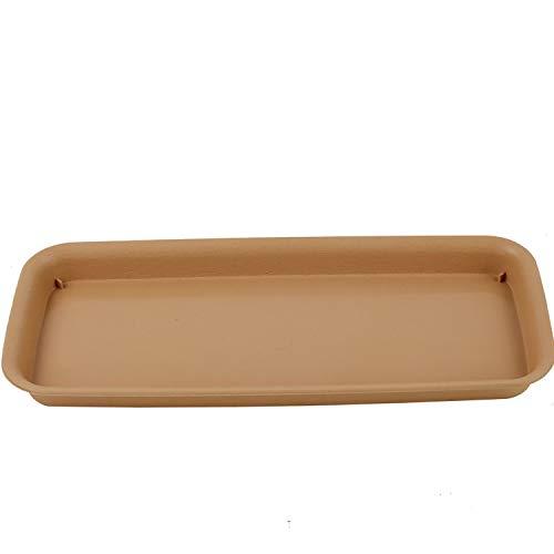 MINGMIN-DZ Dauerhaft Kunststoff rechteckige Pflanzer Tray Flower Pot Saucer (Color : Beige, Size : M)