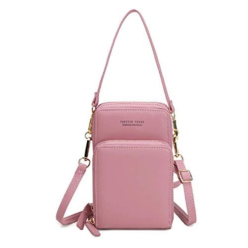XIHUANNI El nuevo estilo coreano de moda color sólido bolso de hombro, bolso de teléfono móvil, bolso multifuncional Crossbody bolsa de hombro para las mujeres