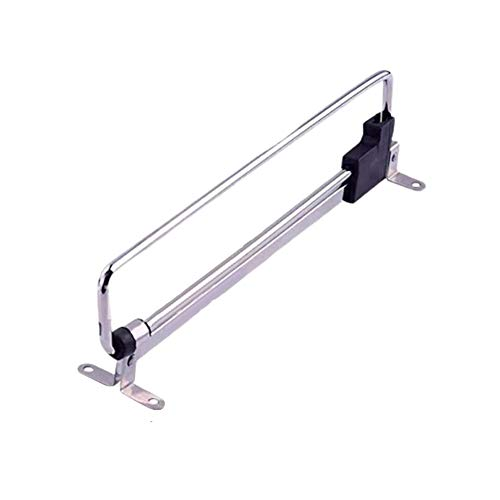 C/H Wardrobe Retractable Pull Out Clothes Hanger Rail Storage Bedroom Space Saving Hanging Iron Cabinet Telescopic Rod Sliding Organizer, Mounted Underneath The Shelf, Durable Heavy Duty