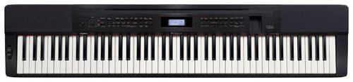 Casio PX-350 BK 88-Key Touch Sensitive Privia Digital Piano with 'AIR' Acoustic and Intelligent Resonation System and Power Supply, Black